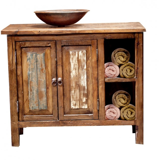 Reclaimed Wood Vanity Bathroom