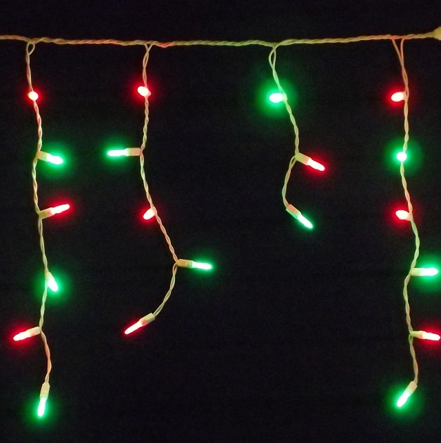 Red And Green Porch Lights