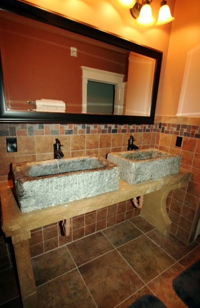 Rustic Double Sink Bathroom Vanities