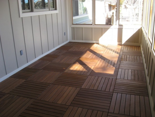 Screened Porch Flooring Ideas