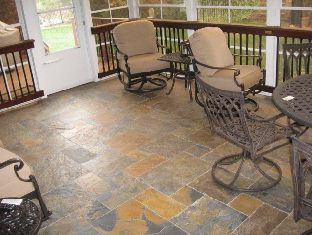 Screened Porch Flooring Material