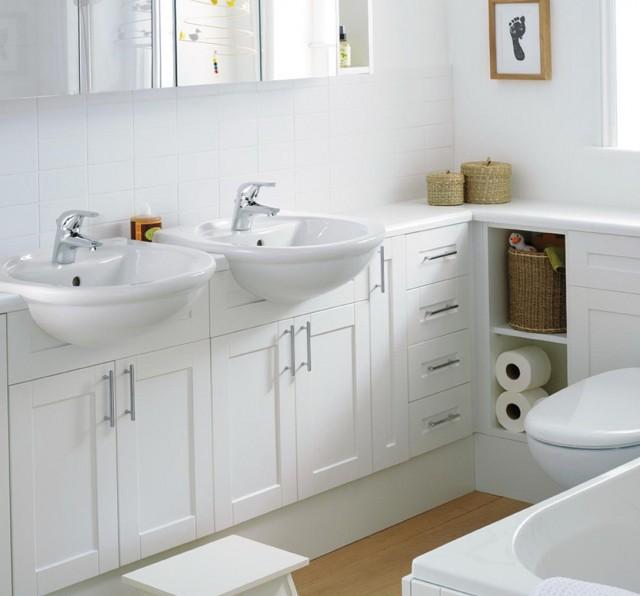 Small 2 Sink Vanity