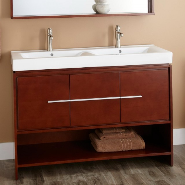 Small Double Sink Vanity 48