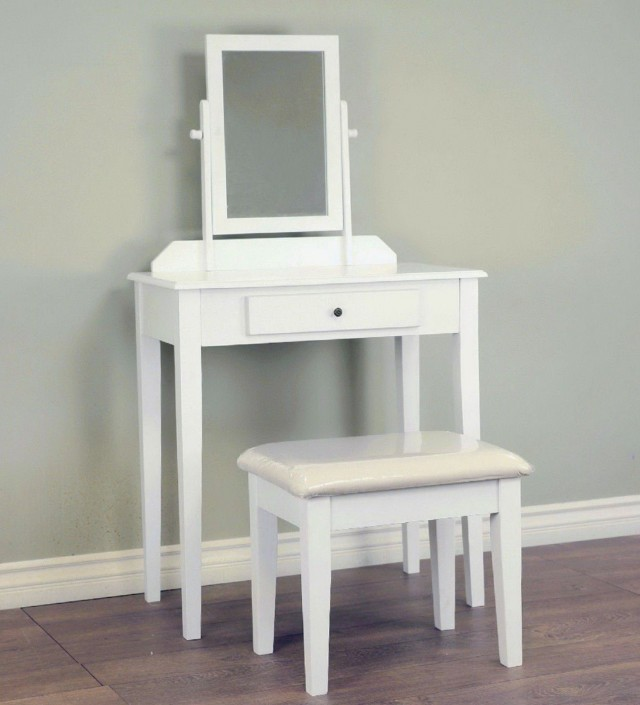 Small White Vanity Desk