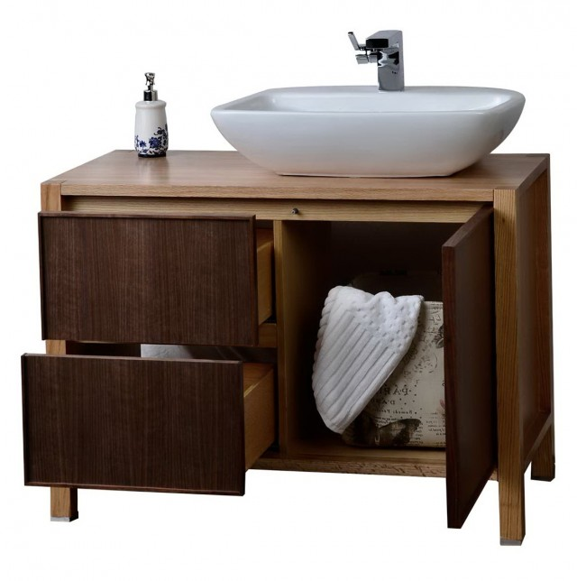 Solid Wood Bathroom Vanity Set