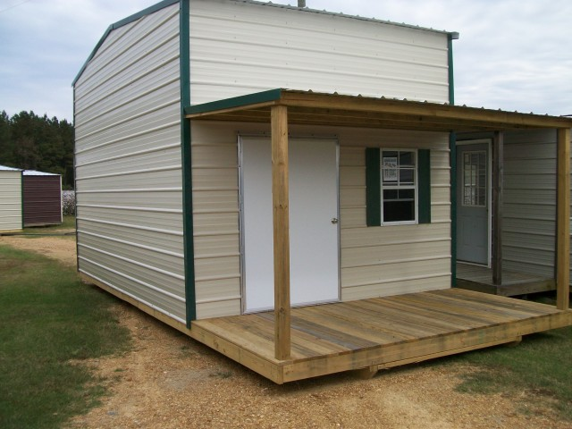 Storage Shed With Porch And Loft