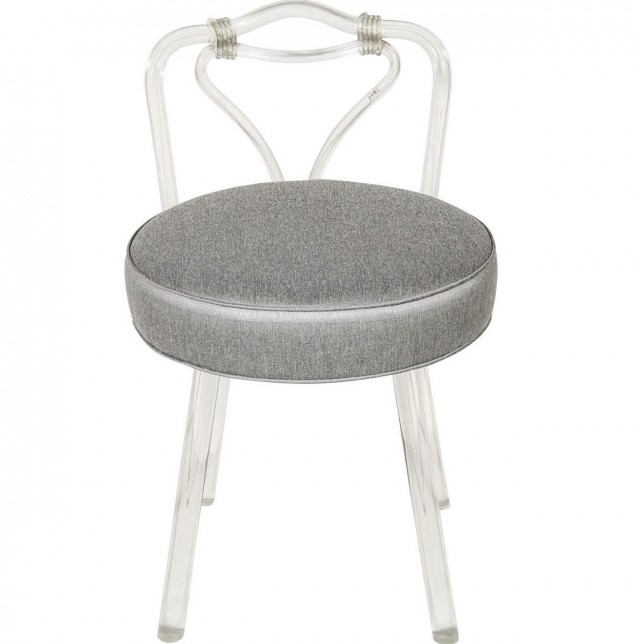 Swivel Vanity Chair With Back