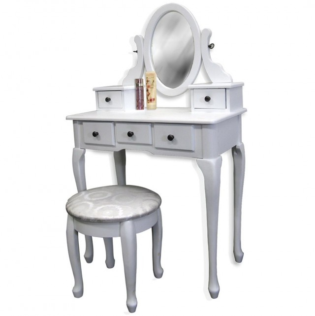 Tabletop Vanity Mirror With Drawer