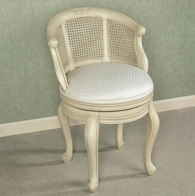Vanity Chair With Back And Casters