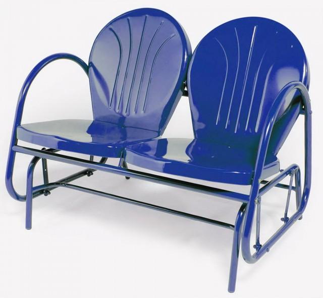 Vintage Metal Porch Glider Chair
