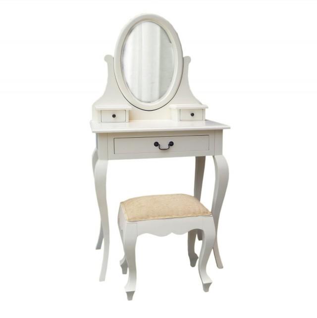 White Antique Vanity Table