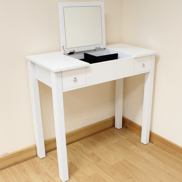 White Bedroom Vanity Table