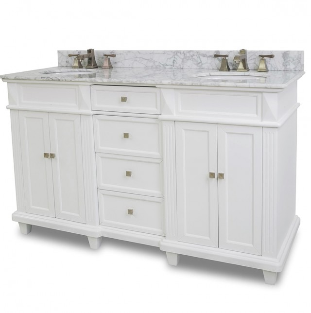 White Double Sink Vanity