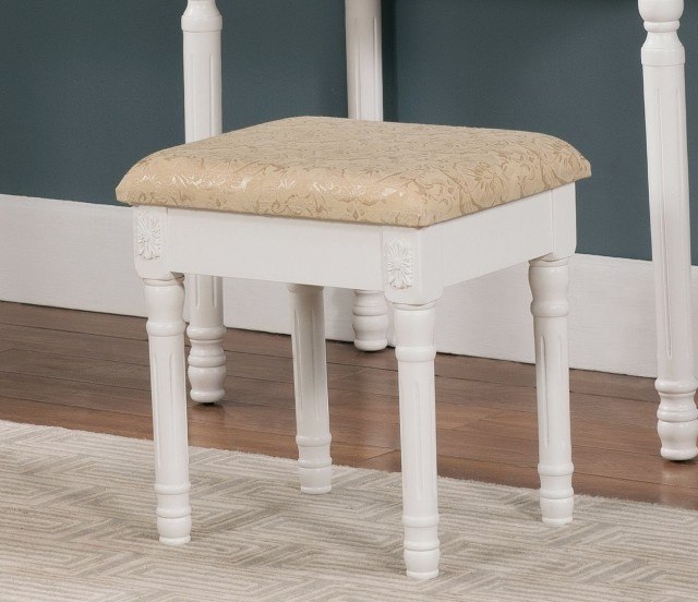 White Vanity Stool Chair