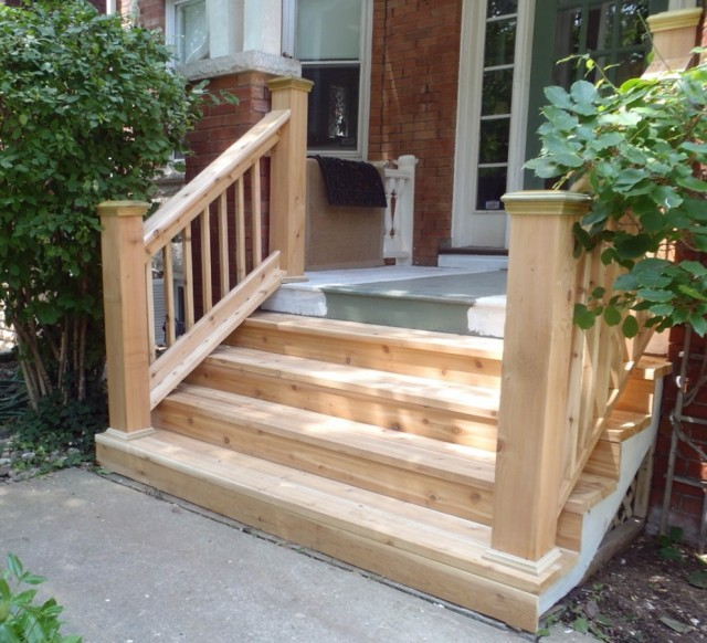 Wooden Front Porch Steps
