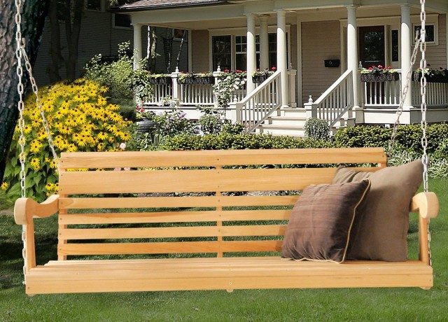 Wooden Front Porch Swings