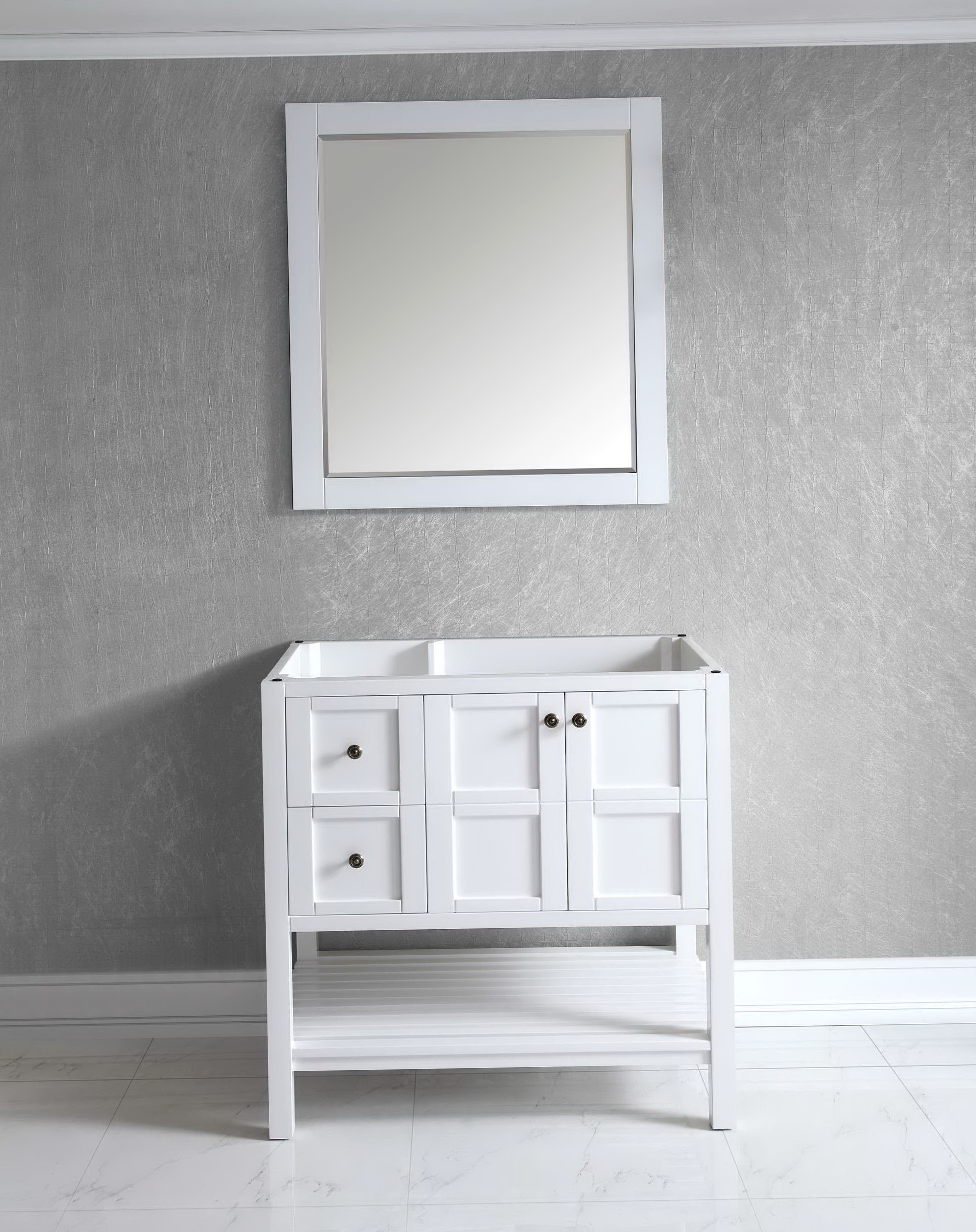 36 White Bathroom Vanity Cabinet