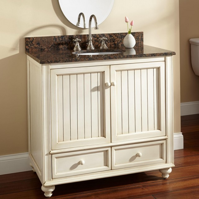 36 White Bathroom Vanity With Sink