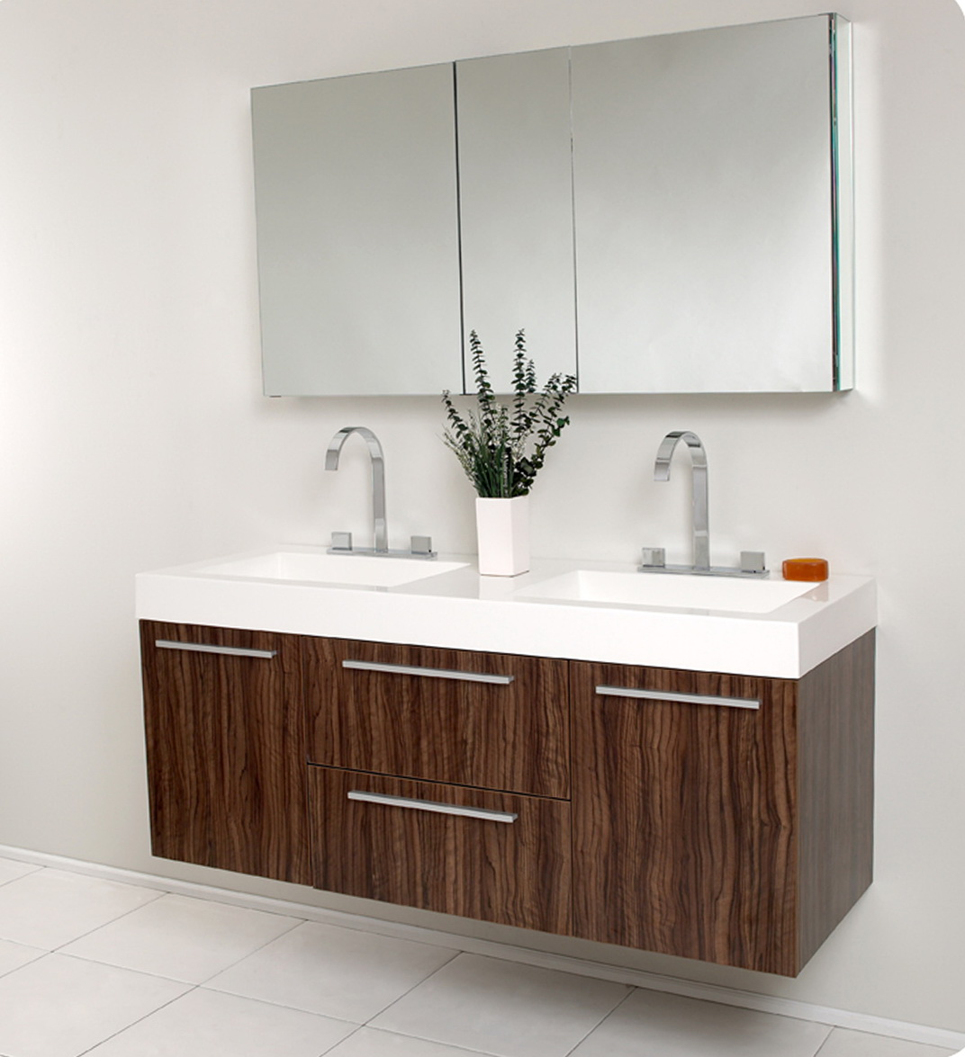 54 Inch Double Sink Bathroom Vanity