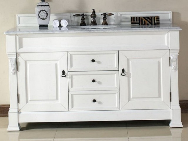 60 Inch Bathroom Vanity Single Sink White