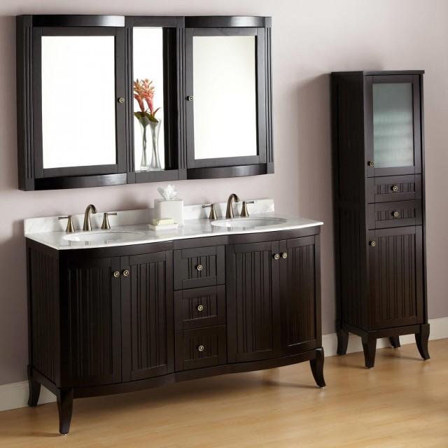 60 Inch Espresso Bathroom Vanity