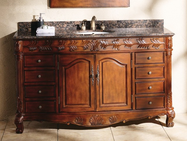 60 Inch Single Sink Bathroom Vanity With Top