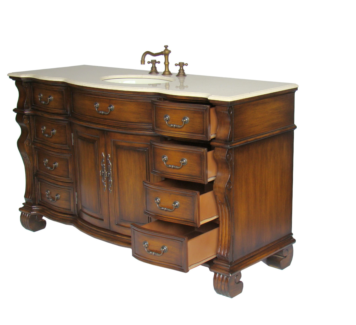60 Inch Single Sink Vanity Top