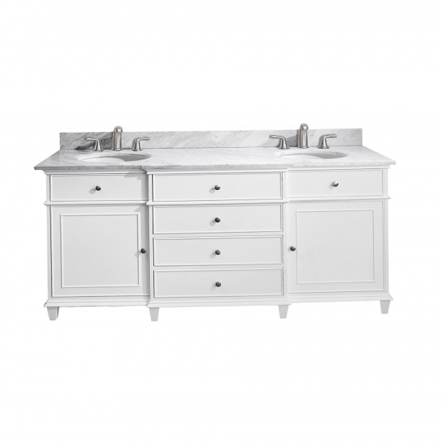 72 Inch Double Sink Vanity Top Only