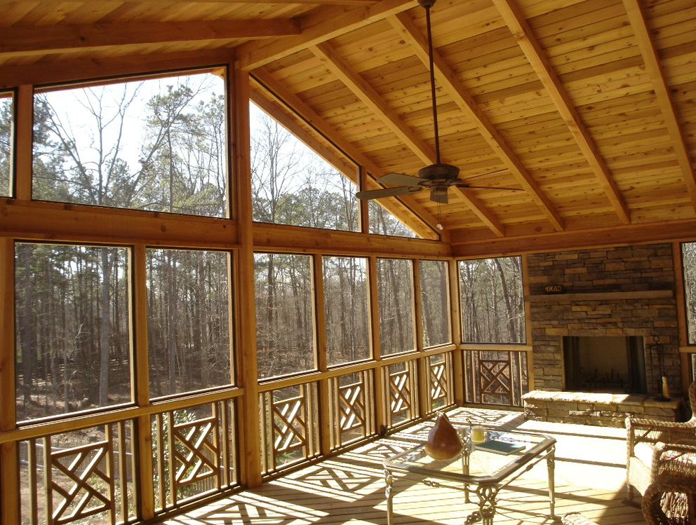 A Frame House Plans With Screened Porch