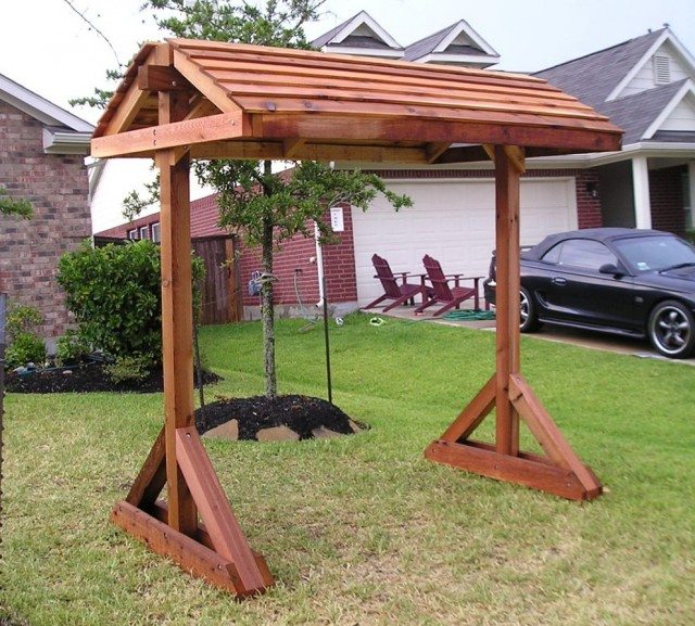 A Frame Porch Swing Stand Plans