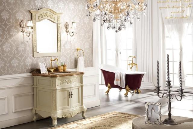 Antique White Bathroom Vanity Mirrors