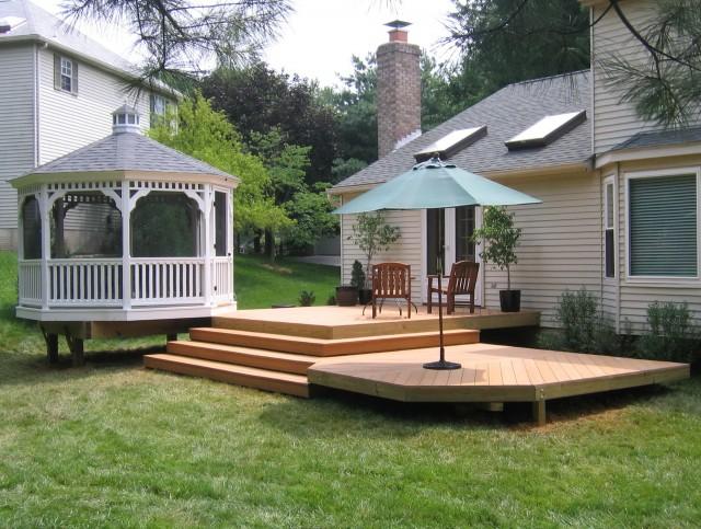 Back Porch Decks Designs