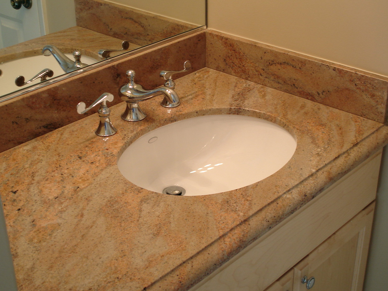 Bathroom Vanity Granite Backsplash