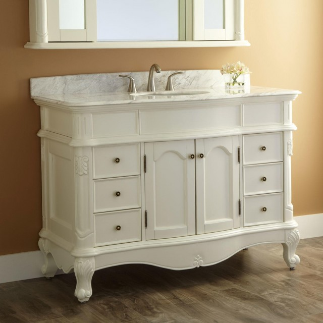 Bathroom Vanity White 48