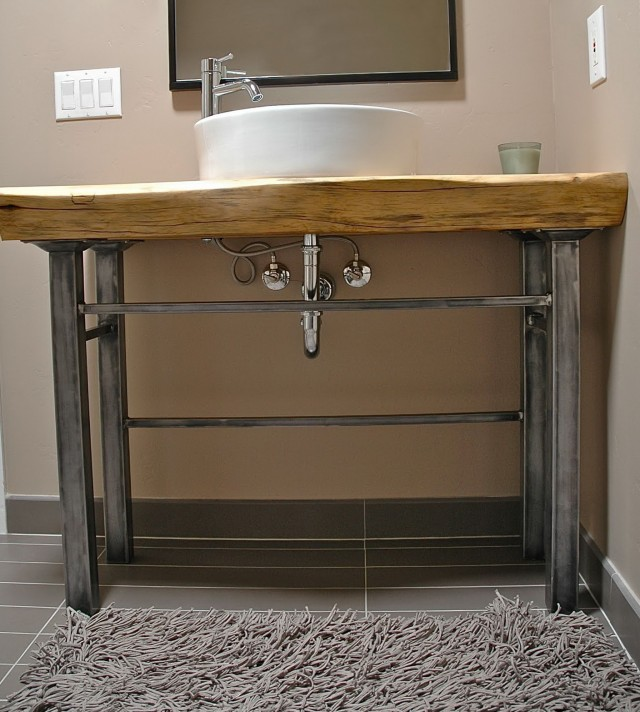 Bathroom Vanity With Metal Legs