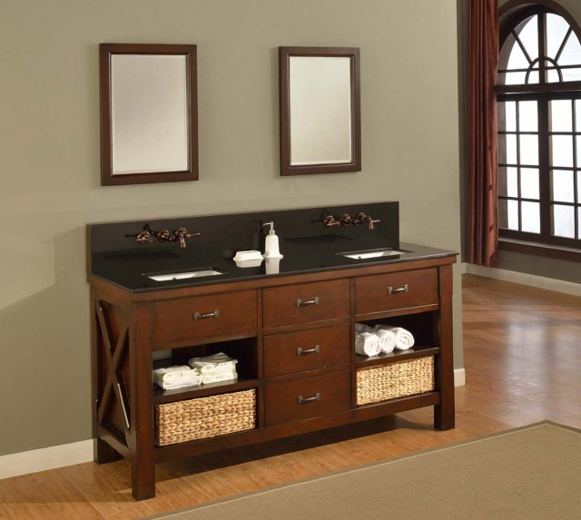Bathroom Vanity With Open Shelves