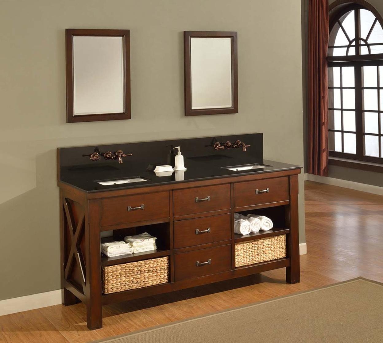 Bathroom Vanity With Open Shelves