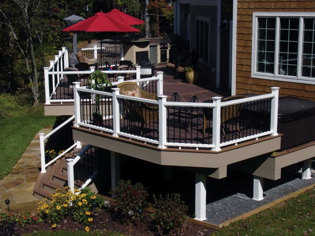 Black And White Porch Railing
