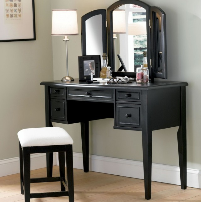 Black Bedroom Vanity Table