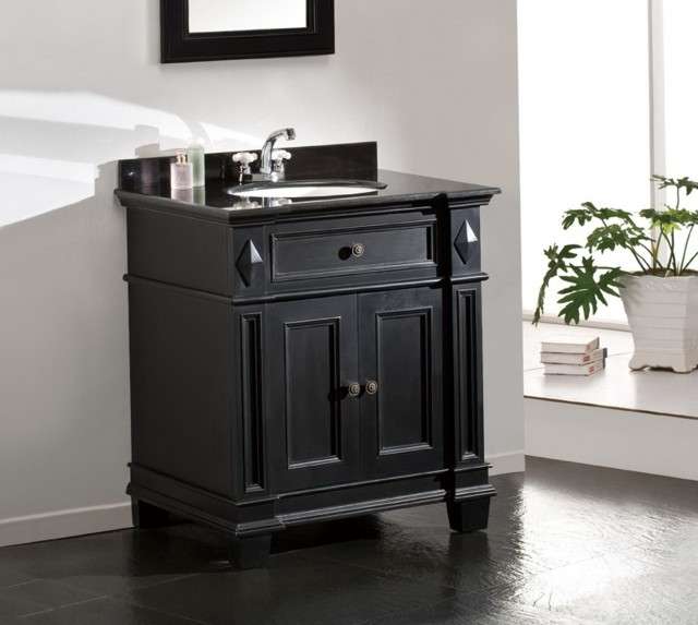 Black Granite Bathroom Vanity
