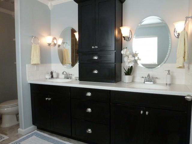 Black Painted Bathroom Vanity