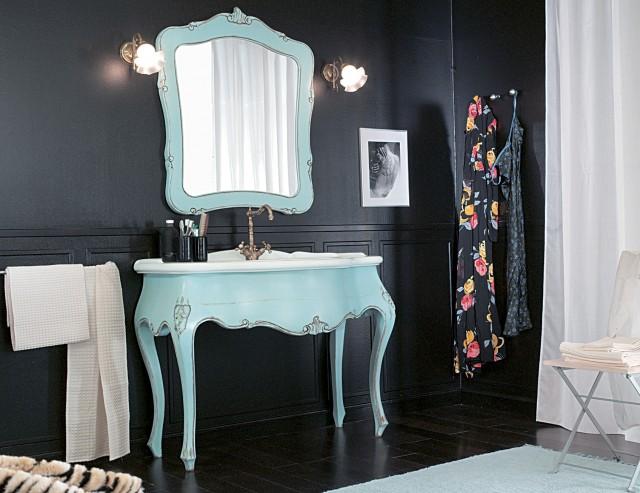 Blue Painted Bathroom Vanity