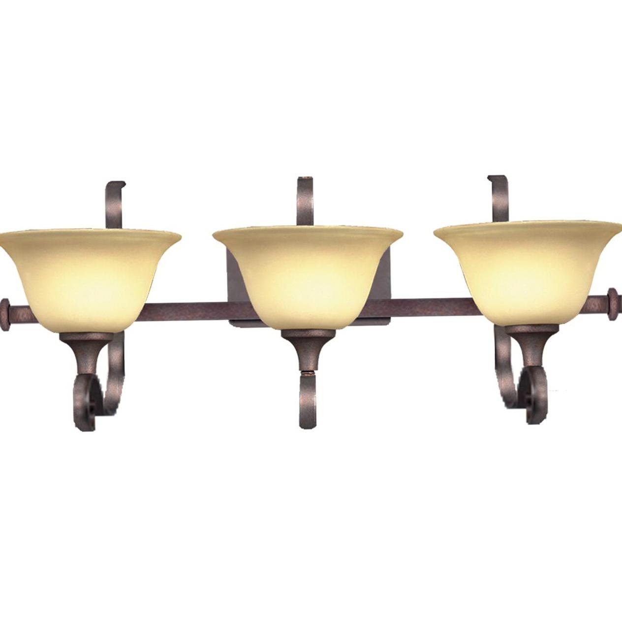 Bronze 3 Light Vanity Fixture