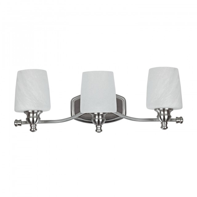 Brushed Nickel Crystal Vanity Light