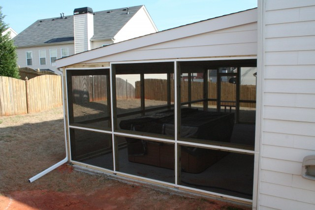 Build A Screened Porch On Concrete Slab