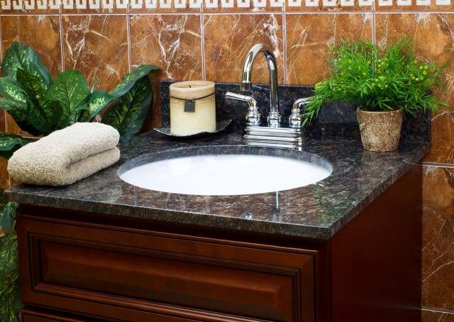 Burlywood Granite Vanity Top