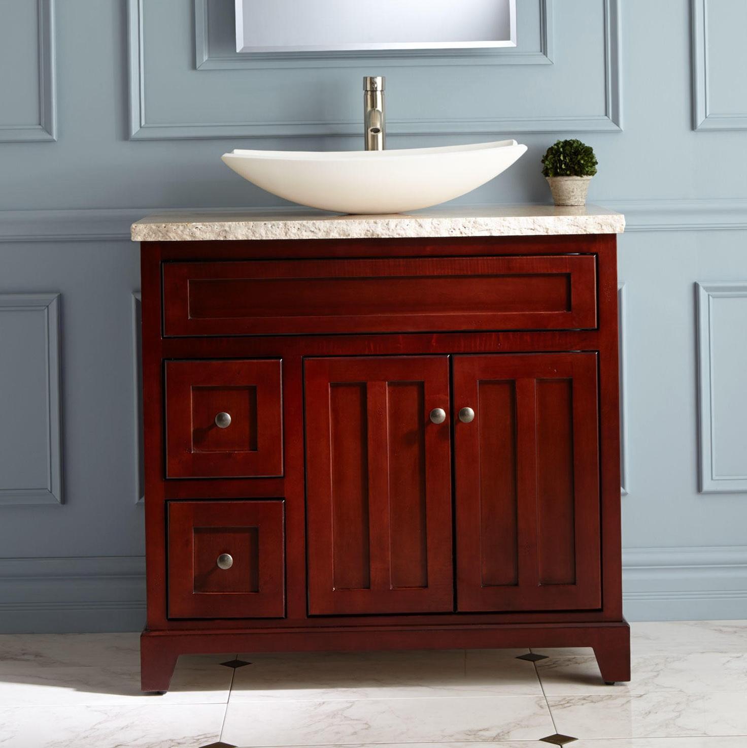 Cherry Bathroom Cabinets Vanities