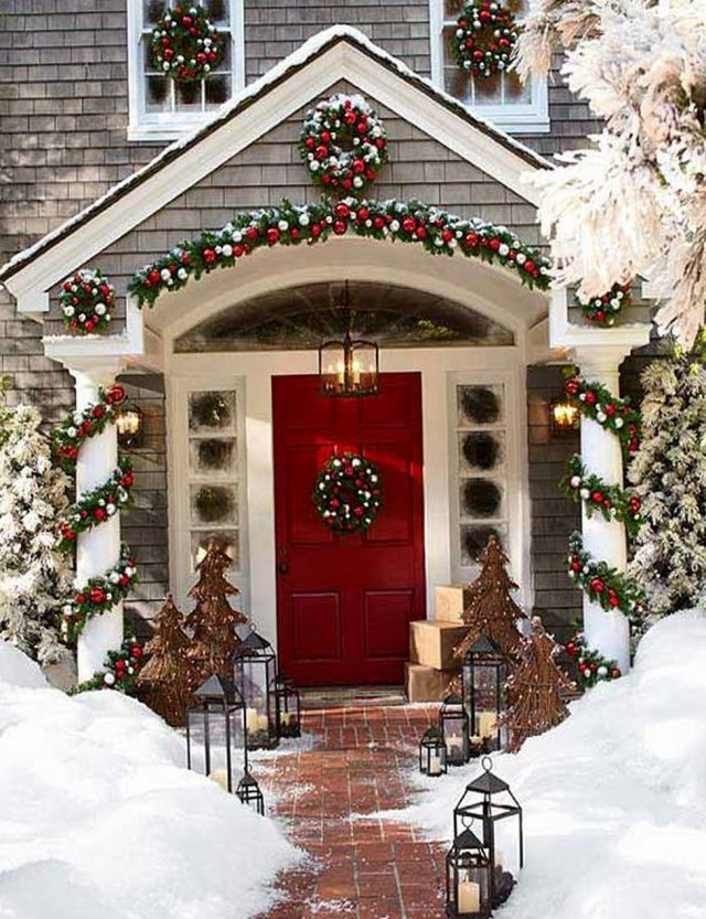 Christmas Decorations For Front Porch Pinterest