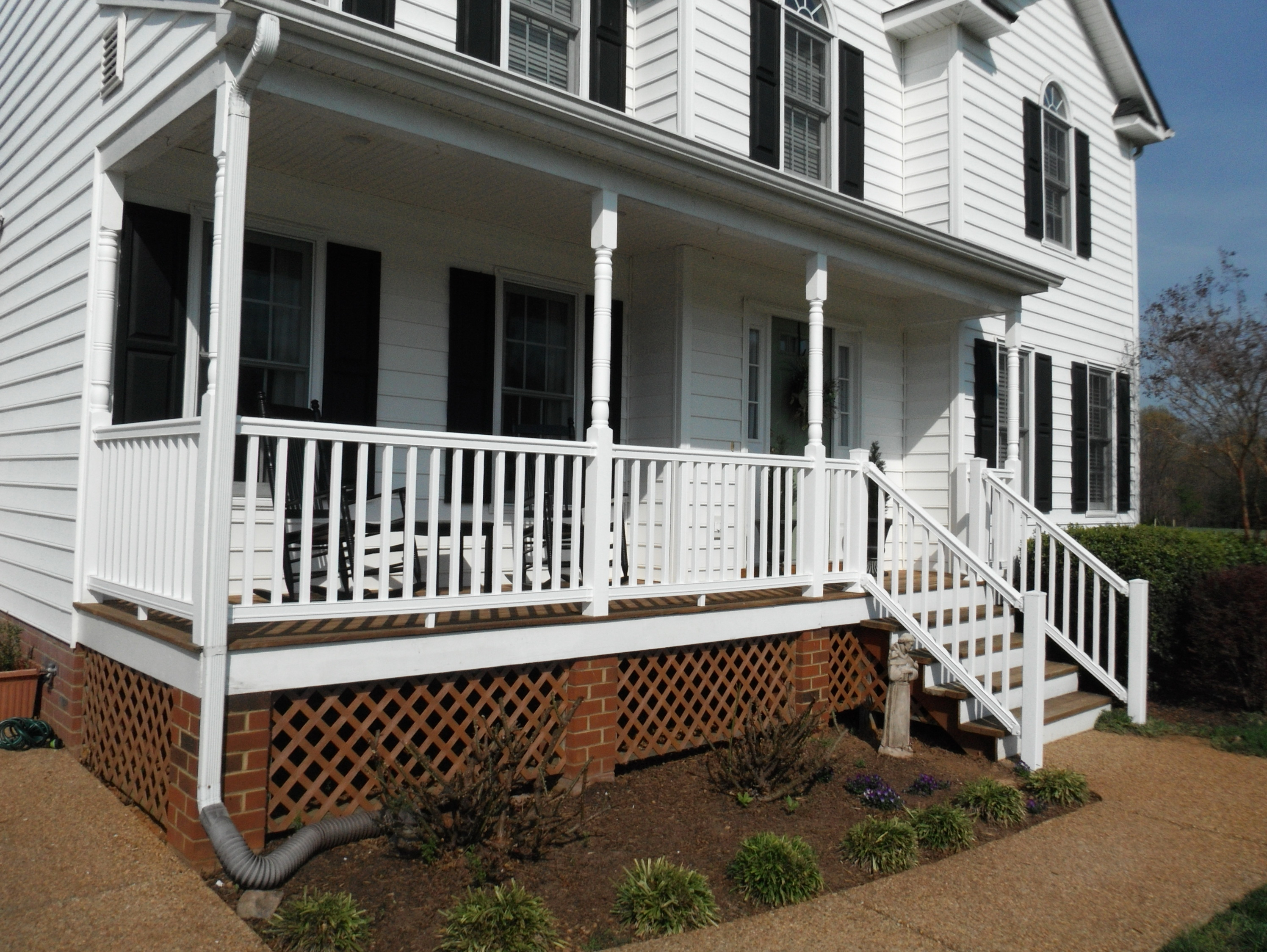 Composite Porch Columns And Railings