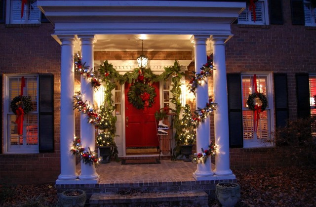 Country Christmas Front Porch Ideas